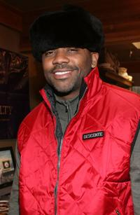 Damon Dash at the Gibson Guitar and Entertainment Tonight celebrity hospitality lodge.