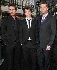 Christian Bale, Anton Yelchin and McG at the premiere of