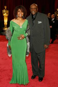 Louis Gossett, Jr. and Guest at the 80th Annual Academy Awards.