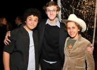 Troy Gentile, Nate Hartley and David Dorfman at the premiere of