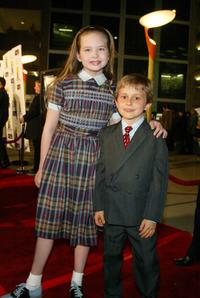 Daveigh Chase and David Dorfman at the world premiere of