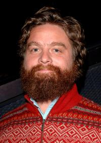 Zach Galifianakis at the screening of