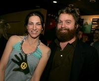 Laura Silverman and Zach Galifianakis at the special screening of