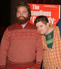 Zach Galifianakis and Patton Oswalt at the special screening of