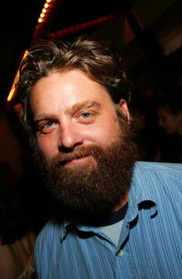 Zach Galifianakis at the Comedy Central Emmy after party.