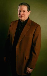 Al Gore at the Getty Images Portrait Studio during the 2006 Sundance Film Festival.