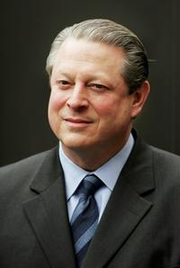 Al Gore at the launch of The Virgin Earth Challenge.