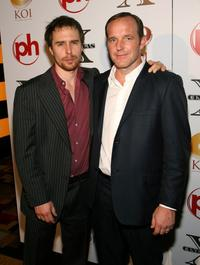 Sam Rockwell and Clark Gregg at the 2008 CineVegas Film Festival honoree awards ceremony and reception.