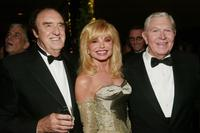 Jim Nabors, Loni Anderson and Andy Griffith at the cocktail party of