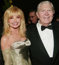 Loni Anderson and Andy Griffith at the cocktail party of