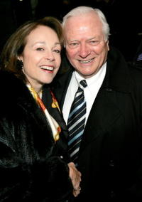 Actress Maureen Anderman and actor George Grizzard at the opening night of