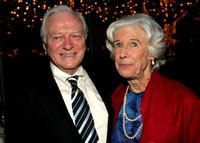 George Grizzard and actress Frances Sternhagen at the opening night after party for the play