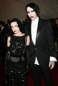 Dita Von Teese and Marilyn Manson at the Metropolitan Museum of Art Costume Institute Benefit Gala: Anglomania.