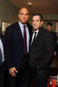 Cory Booker and Kenneth Cole at the opening of affordable housing funded through Bon Jovi's JBJ Soul Foundation.