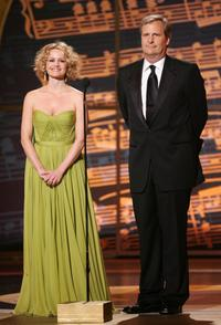 Carla Gugino and Jeff Daniels at the after party for the 61st Annual Tony Awards.