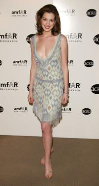 Anne Hathaway at the amfar and ACRIA gala benefit honoring Herb Ritts.