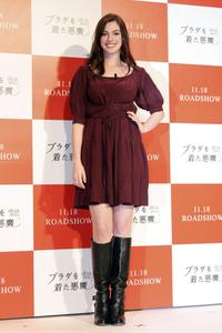 Anne Hathaway at the photocall to promote