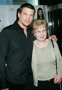 Marc Blucas and his mother at the special screening of