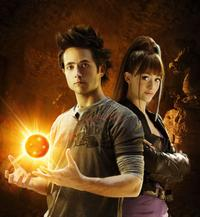 Justin Chatwin as Goku and Emmy Rossum as Bulma in