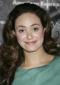 Emmy Rossum at the Macy's Passport auction and fashion show.