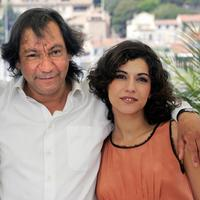 Director Tony Gatlif and Lubna Azabal at the photocall of