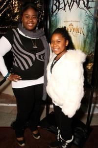 Raven Goodwin and Kristen Combs at the premiere of