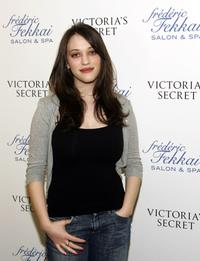 Kat Dennings at the Frederic Fekkai and Victoria's Secret