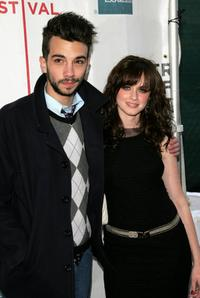 Jay Baruchel and Alexis Bledel at the premiere of