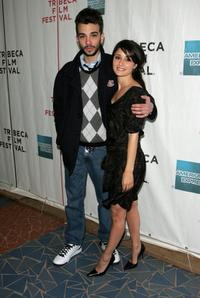 Jay Baruchel and Shiri Appleby at the premiere of