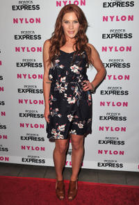 Katee Sackhoff at the Nylon + Express August Denim Issue party in California.