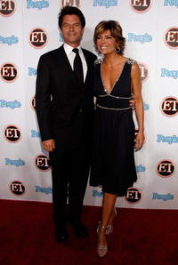 Harry Hamlin and Lisa Rinna at 11th Annual Entertainment Tonight Party sponsored by People.