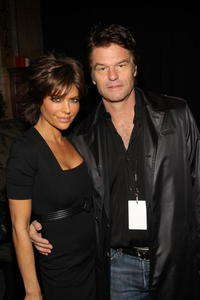 Harry Hamlin and Lisa Rinna at the Mercedes-Benz Fashion Week Fall 2008, attend The Heart Truth's Red Dress Collection fashion show.