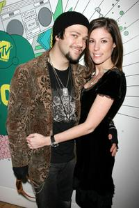 Bam Margera and Melissa Missy Rothstein at the MTV's Total Request Live.