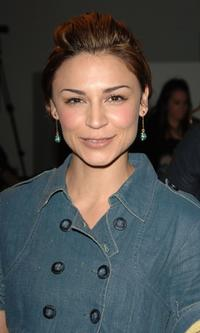 Samaire Armstrong at the Tart Spring 2007 fashion show during the Mercedes Benz Fashion Week.