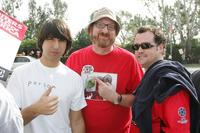 Demetri Martin, Brian Posehn and Guest at the Writers Guild of America (WGA).