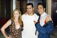 Brennan Hesser, Franky G. and GQ at the 2004 Fox Network TCA Summer Party.
