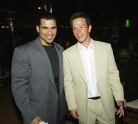 Franky G. and Mark Wahlberg at the after party of the premiere of