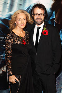 J.K. Rowling and Dr. Neil Murray at the World premiere of