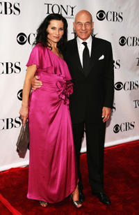 Kate Fleetwood and Patrick Stewart at the 62nd Annual Tony Awards in New York.