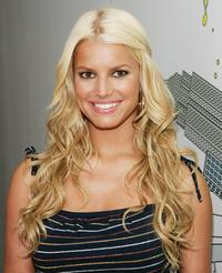 Jessica Simpson at the MTV's Total Request Live.