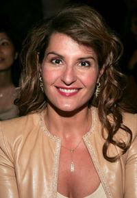 Nia Vardalos at the Imitation of Christ show during the Olympus Fashion Week Spring 2005.