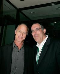 Ed Harris and Bill Hornberg at the cocktail party of