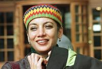 Shabana Azmi poses in front of the Hotel Normandy, to attend second Panasia Film Festival.