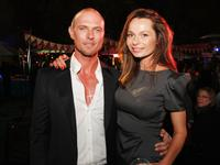 Luke Goss and Anna Walton at the after party of the world premiere of