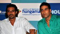 Arjun Rampal and Akshay Kumar at the digital campaign for