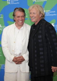 Edward James Olmos and Rutger Hauer at the photocall of