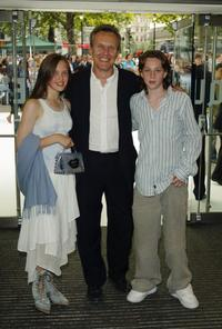 Anthony Head and his children at the UK premiere of