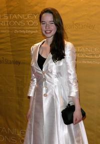 Anna Popplewell at the Morgan Stanley Great Britons 2005 awards ceremony.