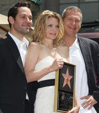 Jeff Bridges, Paul Rudd and Michelle Pfeiffer at the Hollywood Walk of Fame.
