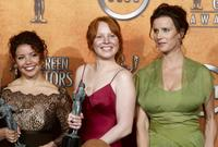 Justina Machado, Lauren Ambrose and Rachel Griffiths at the 10th Annual Screen Actors Guild Awards.